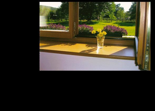 Ranný výhľad z okna penziónu Obšitník