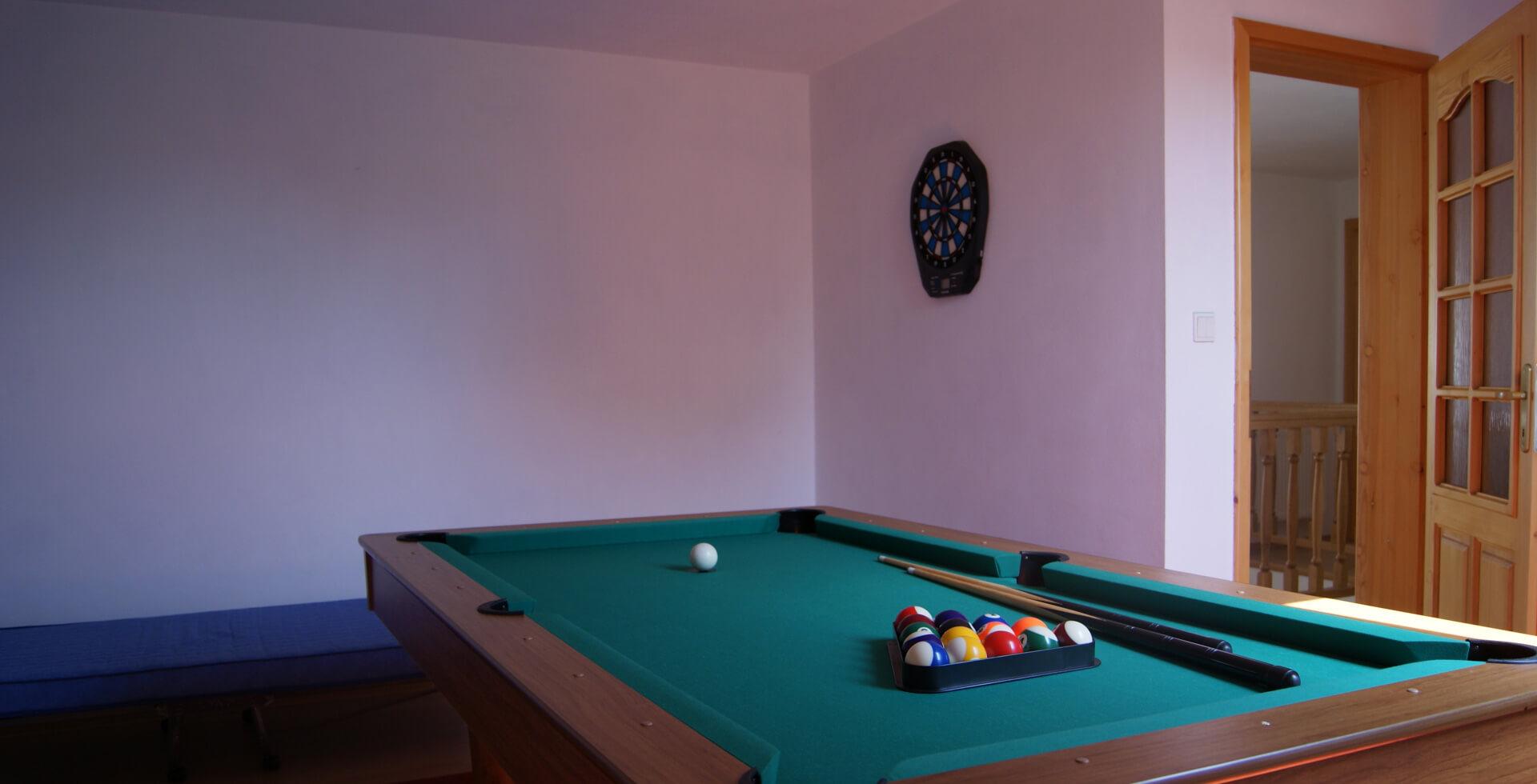 Osobitná miestnosť je určená k spoločenským hrám